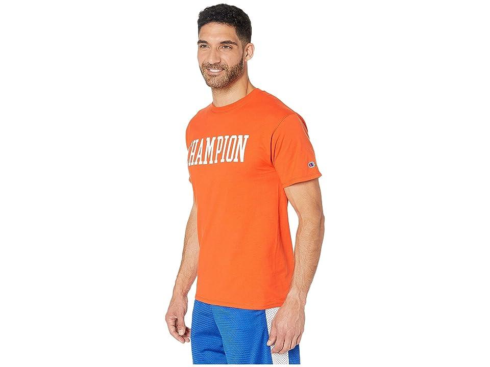Champion Classic Jersey Graphic Tee (Spicy Orange 1) Men's Clothing