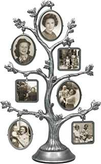 Malden Family Tree Fashion Metal Frame, 2-Sided with 14-Small Frames