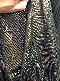 60 in w Chocolate brown Snake skin pleather Fabric by the yard