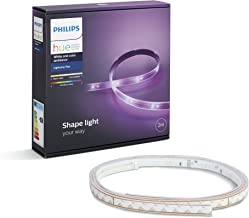 Philips Hue LightStrip Plus Dimmable LED Smart Light - Two Metre (Compatible with Amazon Alexa, Apple HomeKit, and Google Assistant)