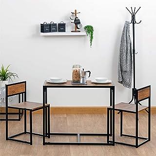 Harbour Housewares Set de Mesa de ComedorCocina y 2 sillas - Diseño Compacto Que Ahorra Espacio