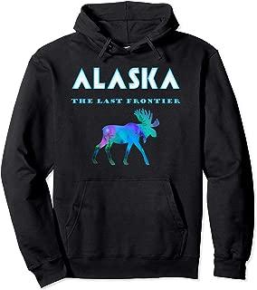 Cool Alaska Last Frontier T-Shirt Alaskan Moose with Aurora Pullover Hoodie
