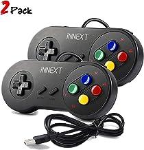 iNNEXT 2X Nueva Retro USB para Súper SNES Controlador Mando de Juegos Controller para PC/Mac
