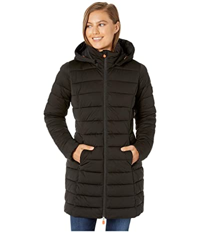 Save the Duck Sold 9 Puffer Coat with Detachable Hoodie (Black) Women