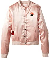 Sonia Rykiel Kids - Alegria Satin Jacket w/ Logo On Back (Big Kids)