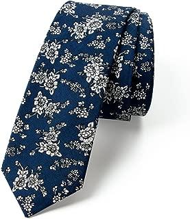 Men's Cotton Printed Floral Skinny Tie