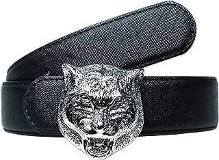 Men's Big Tiger Buckle 38-mm Italian Leather Belt