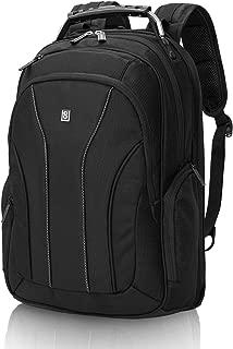 LEVEL8 Laptop Backpack Bussiness Travel Computer Bag Fits 15.6 Inch Laptop (Black)