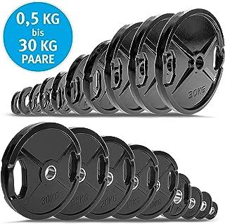 al/ésage 30//31 mm Lisaro Disque dhalt/ères en Fonte 1,25-20 kg Disque dhalt/ères Bodybuilding