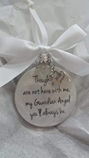 In Memory Mum Gift My Guardian Angel You'll Always Be - Mother Memorial Christmas Bauble Ornament