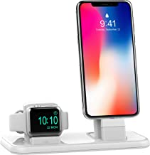 BEACOO Charging Stand for iWatch Series 4, 2 in 1 Charging Dock for iPhone Airpods Charging Station for iWatch 4/3/2/1/iPhone 11/11pro/Xs/XR/X/8/7 /6S(Not fit for iWatch 5 Charger)