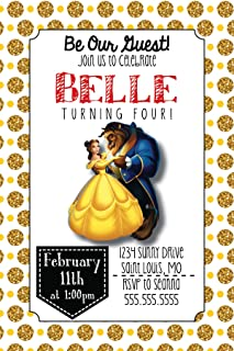 Best beauty and the beast 1st birthday invitations Reviews