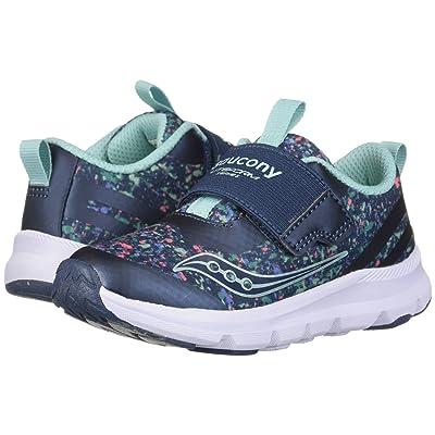 Saucony Kids Liteform (Toddler/Little Kid) (Navy/Print) Girls Shoes