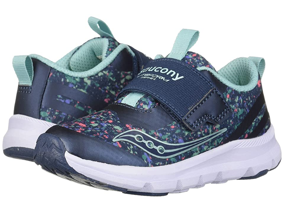 Saucony Kids Liteform (Toddler/Little Kid) (Navy/Print) Girls Shoes