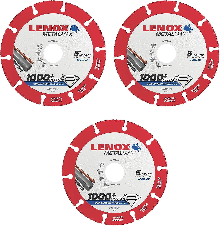 Lenox Tools 1972922 METALMAX Diamond New arrival Edge x 8 7 El Paso Mall Cutoff 5
