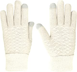 KMystic Womens Fashion Touchscreen Texting Knit Winter Gloves