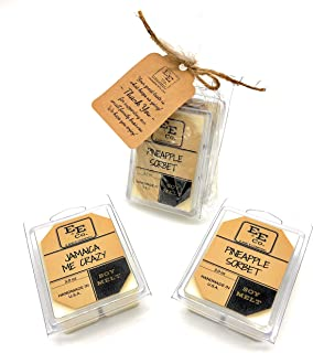 All Natural Soy Wax Melts (2 Pack) by E&E Company - Long Lasting Fragrances Infused with Essential Oil – Scented Soy Wax Cubes/Tarts for Electric/Tealight Warmers - Handmade in U.S.A. (Tropical)