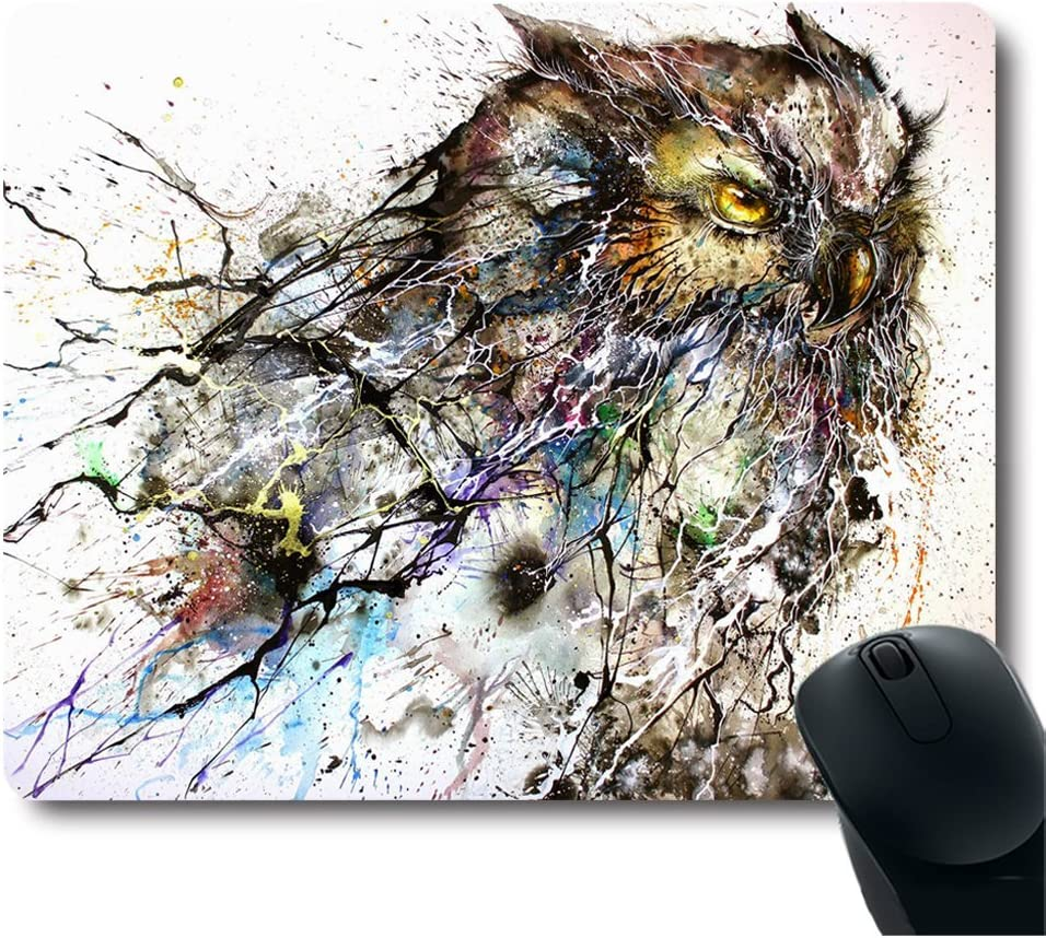 Personalized Abstract Haboku Splash-Ink Night Mail order G Owl Mesa Mall Computer Art