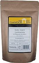 Elmwood Inn Fine Teas, Earl Grey Lavender Black Tea, 25 Pyramid Sachet Tea Bags