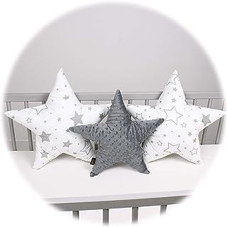 3-pack PALULLI kudde set stjärna stjärna dekorativ kudde ø 40 cm och 2 x ø 50 cm barnrum rum deco stjärnkudde baby dekorat...