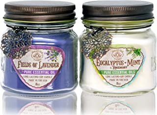 Way Out West Aromatherapy Scented Candles Gift Set – Stress Relief & Energy Jar..