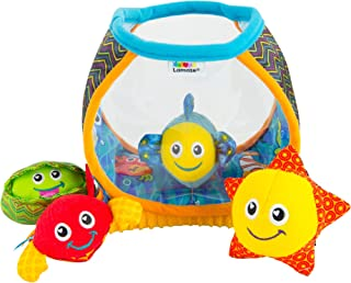 LAMAZE - My First Fishbowl Toy, Capture Baby's Curiosity with Sea Creatures to Rattle, Squeak and Collect with Colorful Pa...