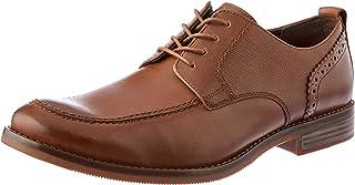 ROCKPORT Men's Formal Wynstin Apron Toe Uniform Dress Shoes, Tan