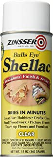 Rust-Oleum Zinsser 408 Bulls Eye Clear Shellac Spray 12 oz
