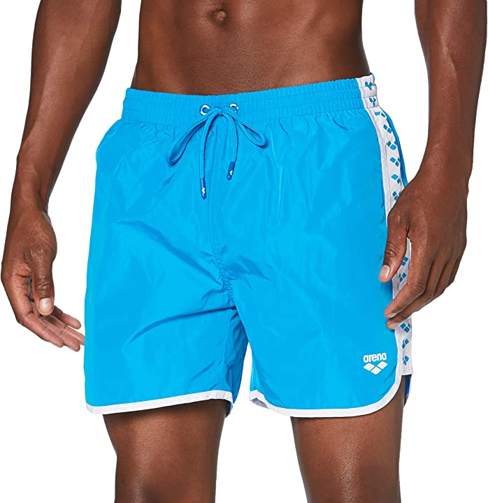 Costume mare uomo arena m team stripe boxer pantaloncino da mare uomo 001834