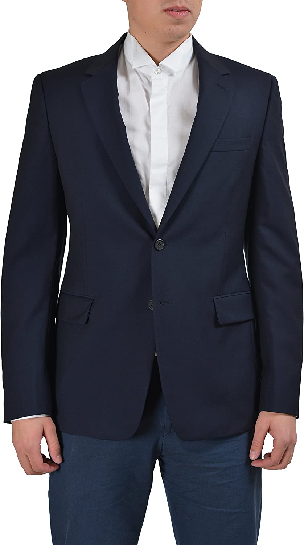 Prada Black Wool Two Buttons Men's Blazer US 42R IT 52R