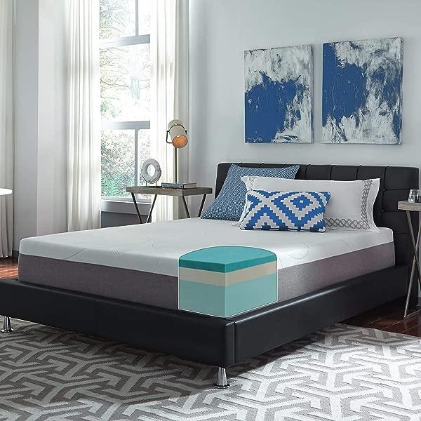 Slumber Solutions Choose Your Comfort 12 Inch Gel Memory Foam Mattress Plush Queen