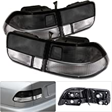 For Honda Civic Ej Coupe 2 Door Smoke Clear Tail Light Brake Lamp 4 Pieces Jdm Replacement