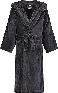 Image of Black Hooded Fleece Bathrobe for Boys - See More Colors