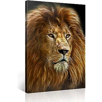 Animal Lion 03 Huge Large Big Poster Thin Canvas Wall  Art Print Home Decor