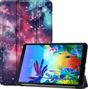 Gylint for LG G Pad 5 10.1 Case, Smart Case Trifold Stand Slim Lightweight Case Cover for LG G Pad 5 10.1 Inches Tablet 2019 Release, Model:LM-T600L, T600L Outer Space
