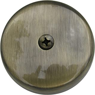 Simpatico 31595A Bath Tub Overflow Plate with Screws of 1-Hole, Antique Brass