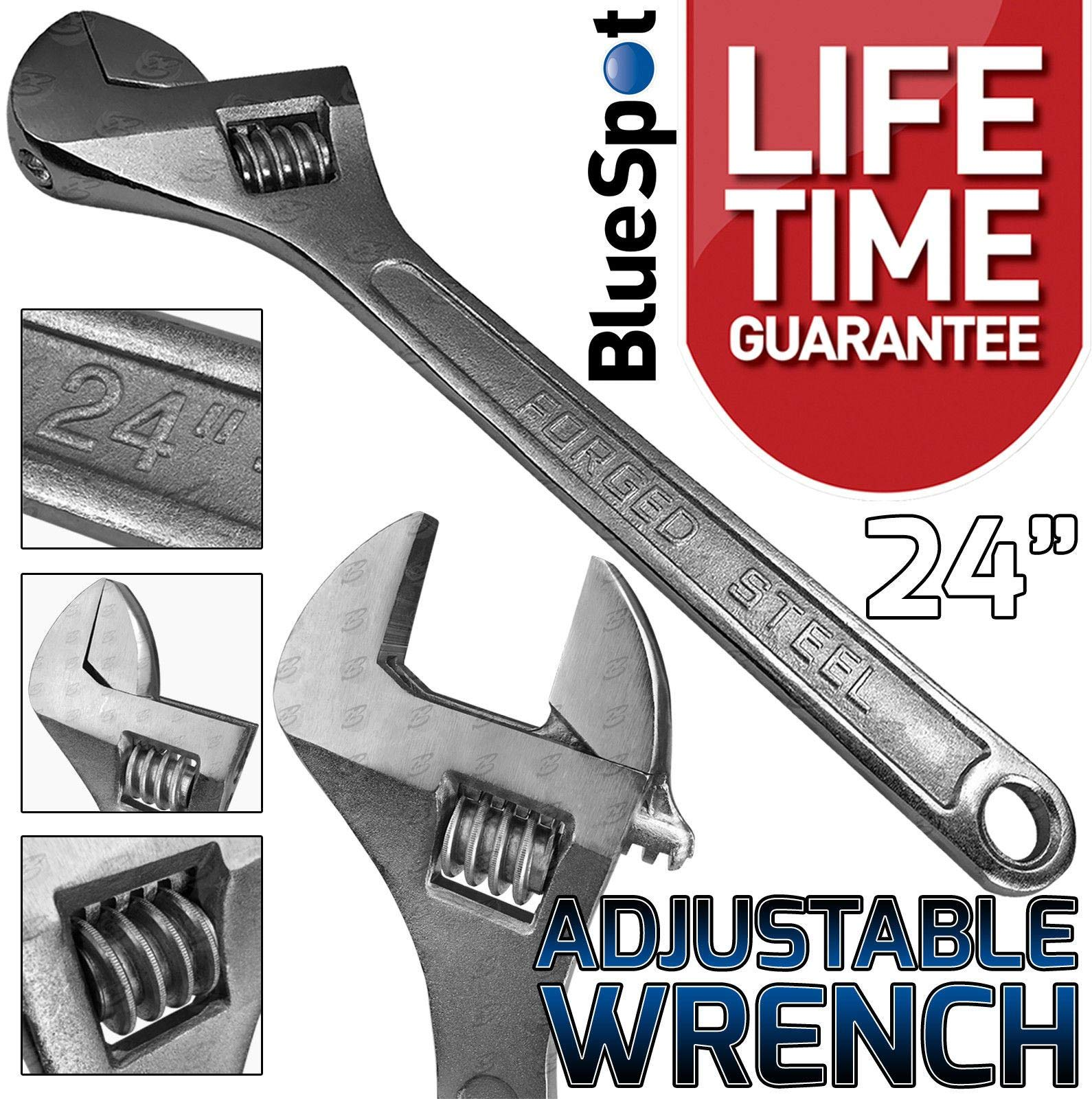 Silver Nifogo Adjustable Wrench Spanner 6-68mm Spanner Short Shank Wrench Aluminum Alloy Repair Tools for Bathroom Tube Nut Disassembly