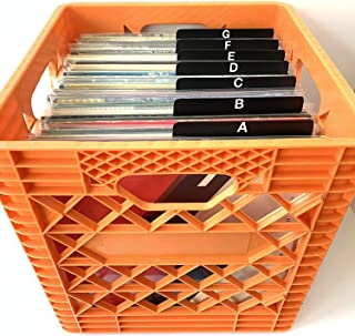 A-Z Black Alphabetical Record Dividers - Professional/Collector/Professional Cards 12-inch 33rpm 33 LP Vinyl Album Organizers/Organization/Organizational A to Z Lettering on Both Sides of tab.