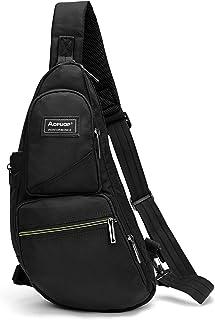 حقيبة سلينغ للرجال صغيرة الصدر حقيبة ظهر كروسبودي حقيبة سفر التنزه دايباك عارضة حزمة