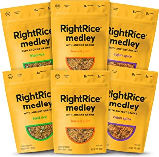 RightRice Medley Variety Pack (7oz. Pack of 6) - Made from Vegetables – Ancient Grains and More Veggies, Ve...