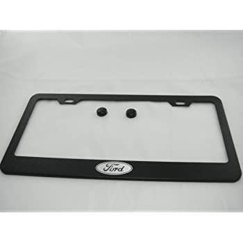 Ford Edge Black License Plate Frame with Cap