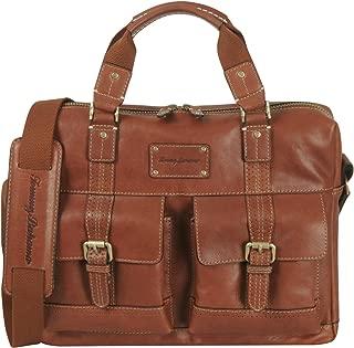 Tommy Bahama Canvas Messenger Bag - Satchel Shoulder Bag for Men Large Bookbag with Padded Laptop Pocket