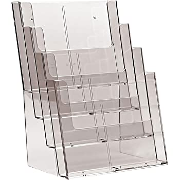 Taymar 3C230 Three Tier Dispenser for A4 Portrait Leaflets and Brochures Clear