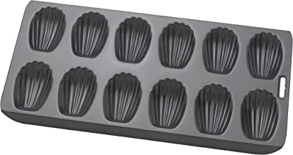 MRS. ANDERSON'S BAKING 93231 Madeleine Pan, Non-Stick, 12-cup Charcoal