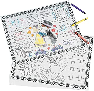 Lot of 36 Child Kids Paper Wedding Place Mat Activity by Oriental Trading Company
