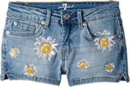 7 For All Mankind Kids Daisy Short Shorts (Big Kids)