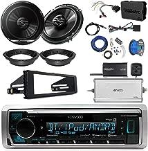 Kenwood KMR-M322BT Marine Bluetooth Radio, 2x Pioneer 6.5 Speakers, Adapters, 4-Ch. Amplifier, Amp Kit, Wiring Kit, Enock Harley Dash Kit, Antenna, 16-G 50 Ft Tinned Wire (Select '98-'13 Harleys)