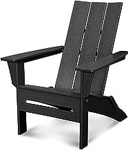 POLYWOOD Modern Adirondack Adirondack Chair, Black