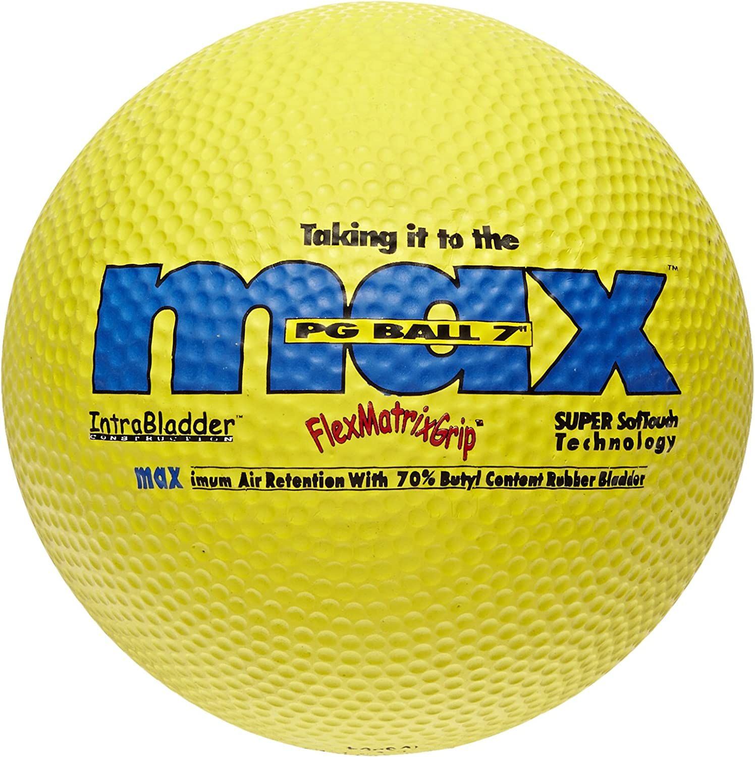 SportimeMax Playground Balls - 7 Inch - Yellow