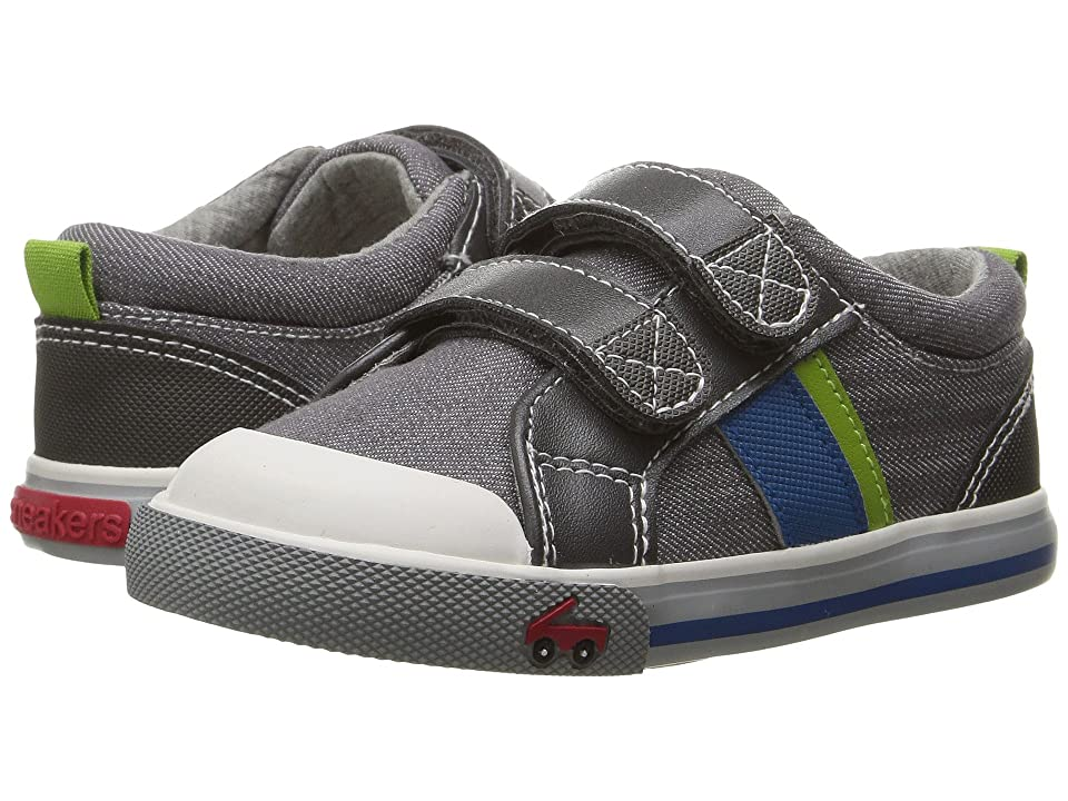 See Kai Run Kids Russell (Toddler) (Gray Denim) Boys Shoes